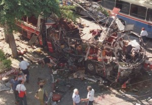 Bus bombing in Tel Aviv.